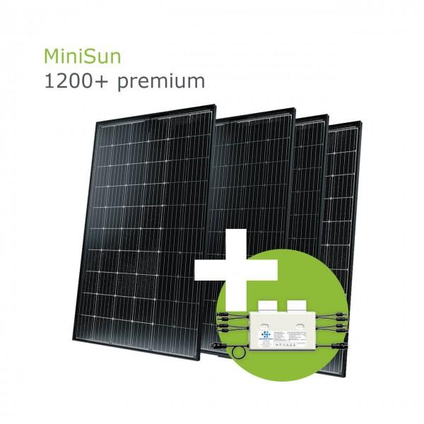 MiniSun1200+ premium - Mini Solaranlage für Balkon, Dach und Garten SW315B G-G