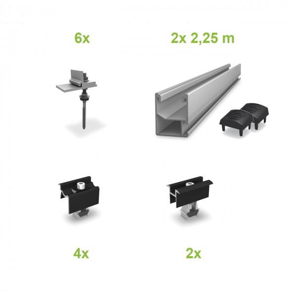 Stockschrauben (2 Module) UK-Komplettset