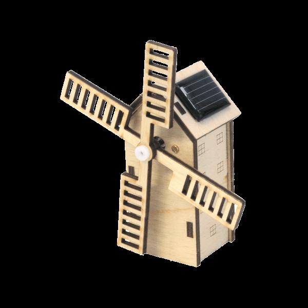 Mini Solar Windmühle Bausatz aus Holz mit Solarzelle 40005
