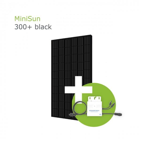 MiniSun300+ black - Mini Solaranlage für Balkon, Dach und Garten GE305B