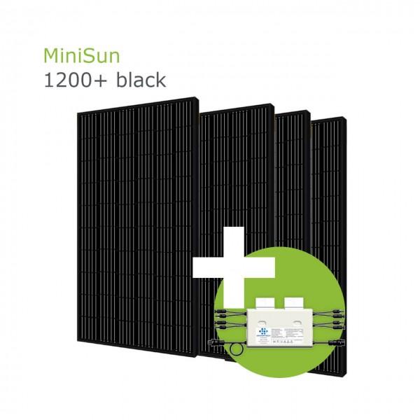 MiniSun1200+ black - Mini Solaranlage für Balkon, Dach und Garten GE305B