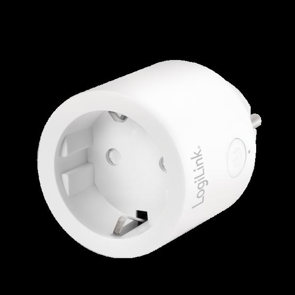 LogiLink Smart Plug - steuerbare Steckdose kompatibel mit Android, iOS, Alexa, Google Home, PA0199