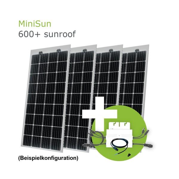 MiniSun600+ sunroof - Mini Solaranlage als Terassenüberdachung, Wintergartendach oder Carport SW175