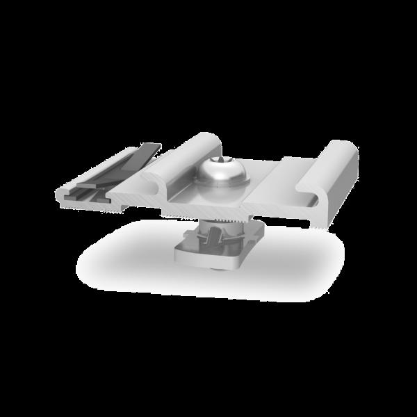 K2 InsertionRail Cross connector pressblank / silber, 2002762