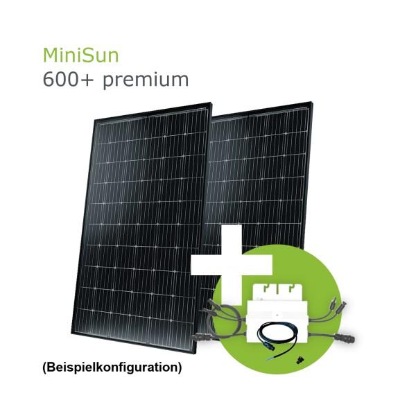 MiniSun600+ premium - Mini Solaranlage für Balkon, Dach und Garten SW315B G-G