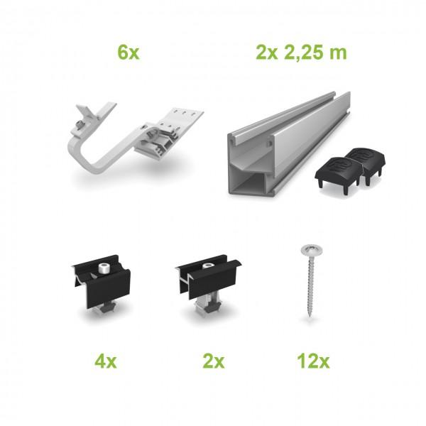 Ziegel (2 Module) UK-Komplettset
