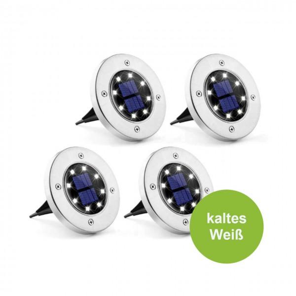 Gartenstecker 4er Set LED kalt weiß wasserdichte Bodenleuchte Solar