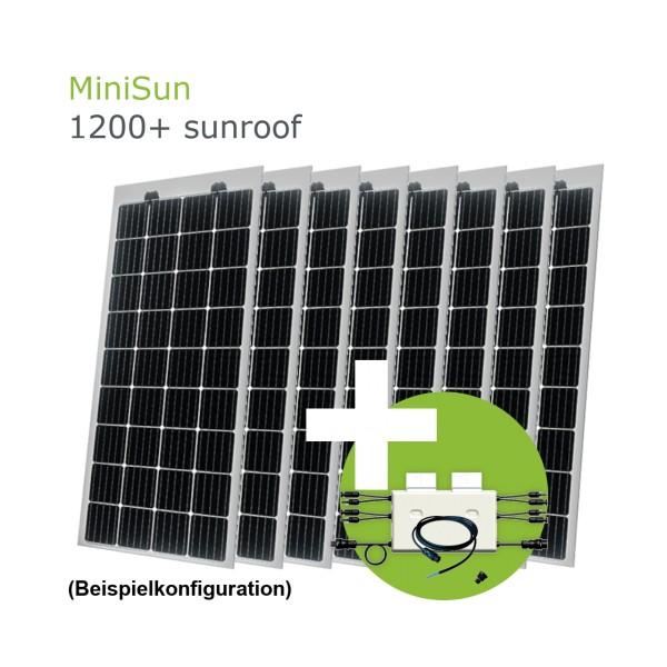 MiniSun1200+ sunroof - Mini Solaranlage als Terassenüberdachung, Wintergartendach oder Carport SW175