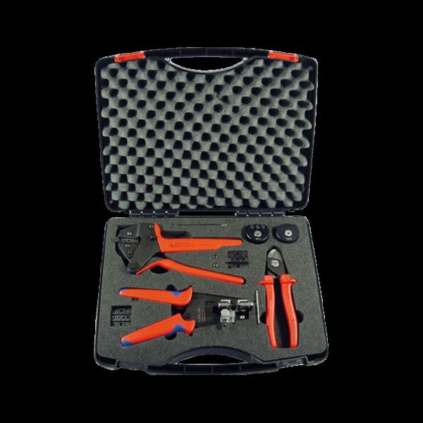 Multi-Contact MC4 Werkzeugkoffer, Press- / Abisolierzange