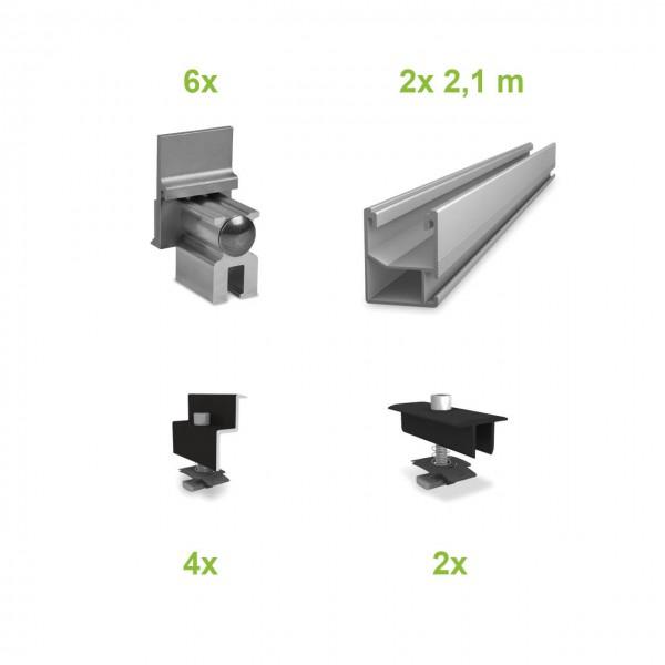 Blechfalzdach (2 Module) UK-Komplettset