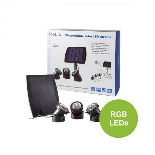 LogiLink Wasserdichte Solar LED-Strahler, LED003
