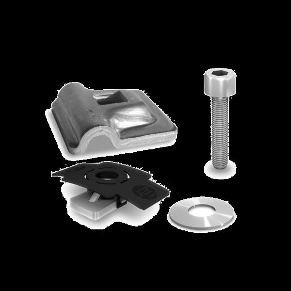 K2 Blitzschutzklemme lightning protection clamp Multi Alu 8 mm Set, 2002473