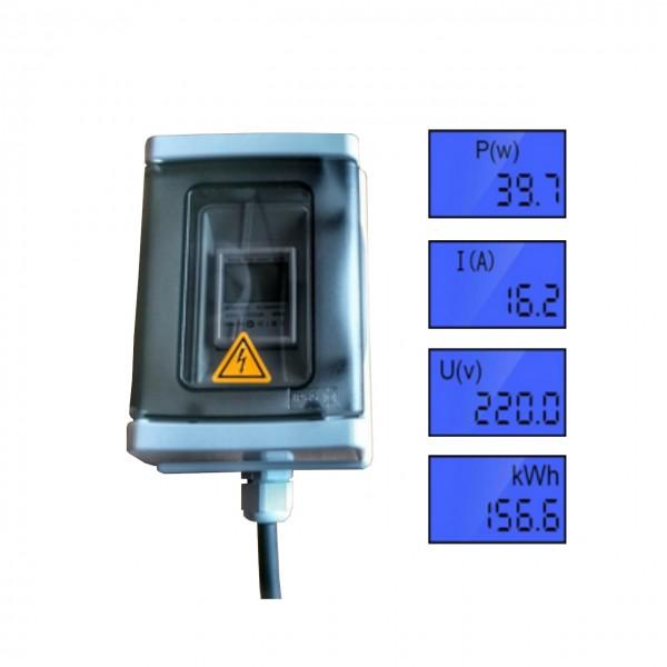 Wieland Energieeinspeisesteckdose mit integriertem Zähler, Aufputz