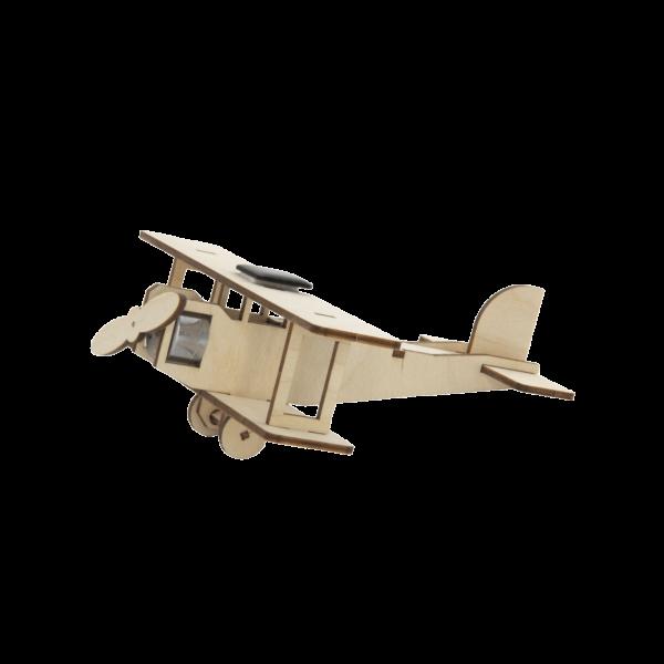 "Solar Doppeldecker ""Flying Star"" Bausatz aus Holz mit Solarzelle 40235"